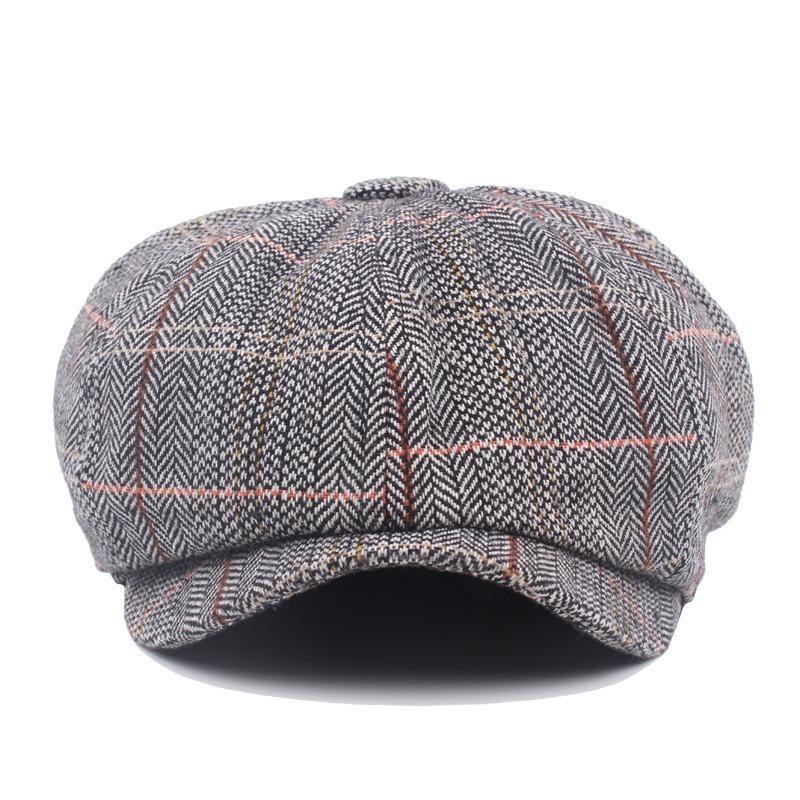 Harga Mens British Style Gentleman Octagonal Beret Hats Casual Newsboy Painter Forward Caps Intl Not Specified Asli
