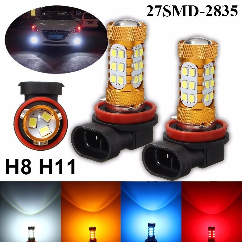 Merah H11 H8 27-SMD Kabut Mengemudi Light LED Bulbs Lampu Aksesoris