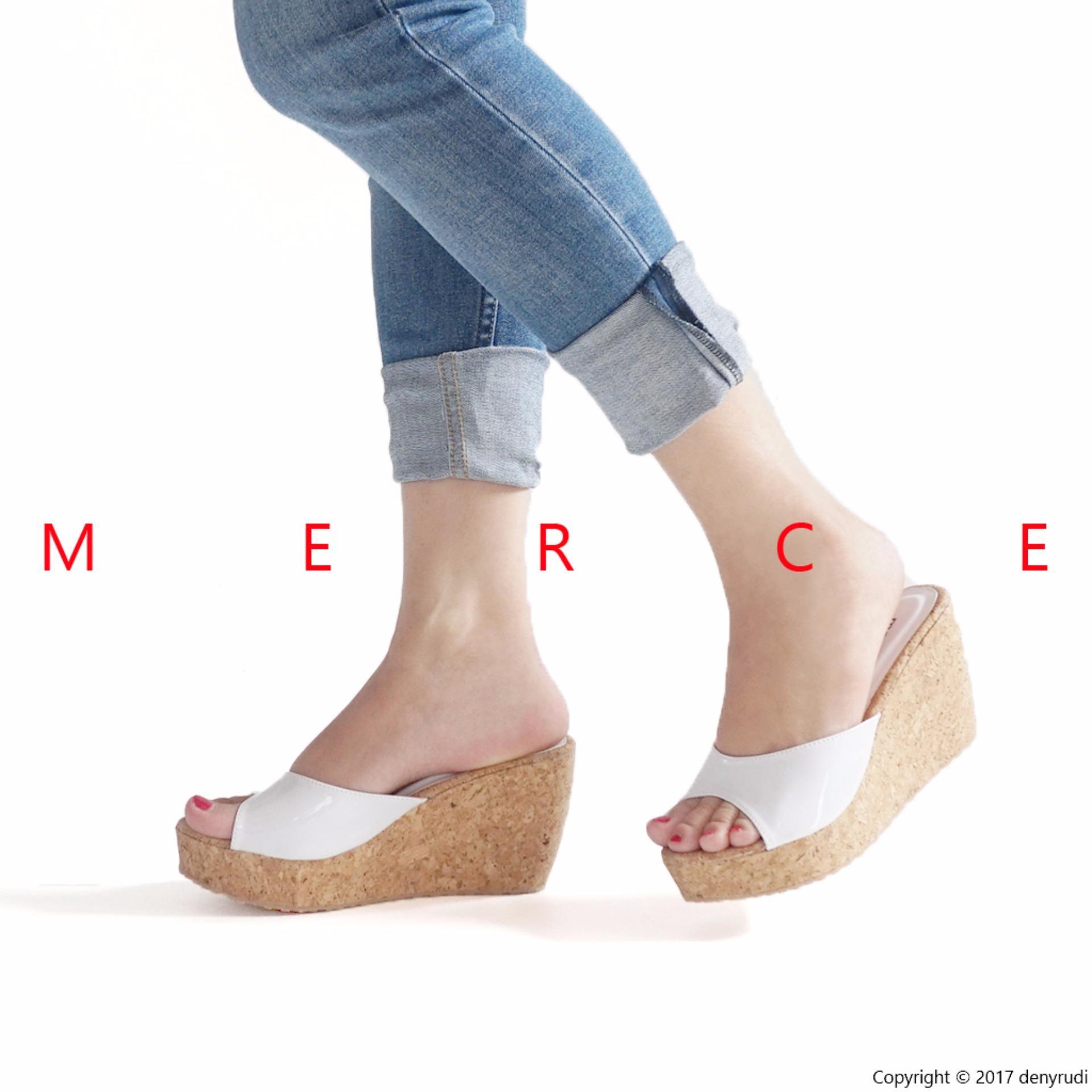 Merce - Sepatu Sandal Wanita JESSIE Wedges - Putih