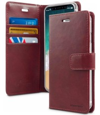Mercury Bluemoon Diary Case for Samsung Galaxy Note 8 - Wine