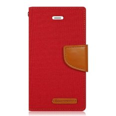 Mercury Canvas Diary Case For Samsung Galaxy J2 - Merah