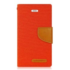 Mercury Canvas Diary Case For Samsung Galaxy J7 - Orange