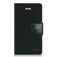 Mercury Canvas Diary Case For Samsung Galaxy S7 - Hitam