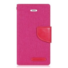 Mercury Canvas Diary Case For Sony Xperia Z5 - Pink