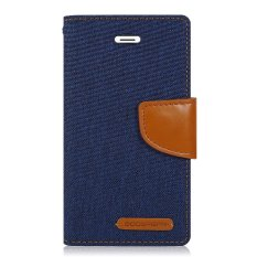 Mercury Canvas Diary Case For Xiaomi Note 3 - Navy