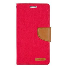 Mercury Canvas Diary Case iPhone 4 / 4S Flip Cover - Merah