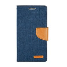 Mercury Canvas Diary Case Vivo X7 Plus Flip Cover  - Navy
