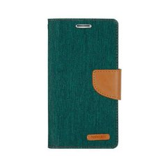 Jual Mercury Canvas Flip Cover Leather Diary Case For Iphone 4 4S Hijau Mercury Grosir