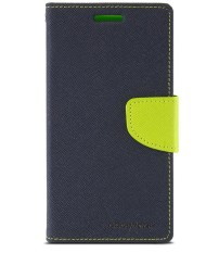 Mercury Fancy Diary Case for HTC One Mini - Navy/Lime