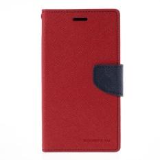Beli Mercury Fancy Diary Case For Samsung Galaxy C9 Pro Red Navy