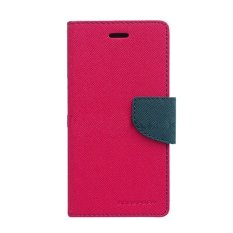 Mercury Fancy Diary Case LG Nexus 5 Casing Cover Flip - Magenta-Biru Laut