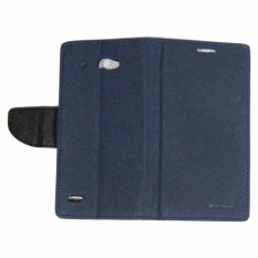 Mercury Fancy Diary Leather Case Cover For Lenovo S920 Flipshell Softcase / Sarung Case / Sarung Handphone Kulit - Biru Tua