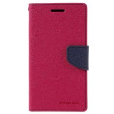 Mercury Fancy Flip Case Casing Cover for HTC One Mini - Pink Biru
