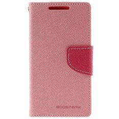 Mercury Fancy Flip Case Casing Cover for HTC One Mini - Pink Hotpink