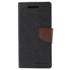 Ulasan Lengkap Mercury Fancy Flip Case Casing Cover For Samsung Galaxy Note 4 Hitam Cokelat