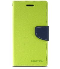 Mercury Fancy Flip Case Casing Cover for Sony Xperia SP - Hijau Biru