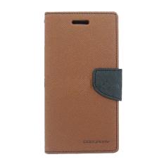 Beli Mercury Goospery Fancy Diary For Samsung Galaxy Note 3 Neo Case Brown Black Online Murah