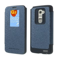 Mercury Wow Bumper Case LG G2 Casing Cover Flip - Biru Tua