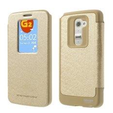Mercury Wow Bumper Case LG G2 Casing Cover Flip - Emas