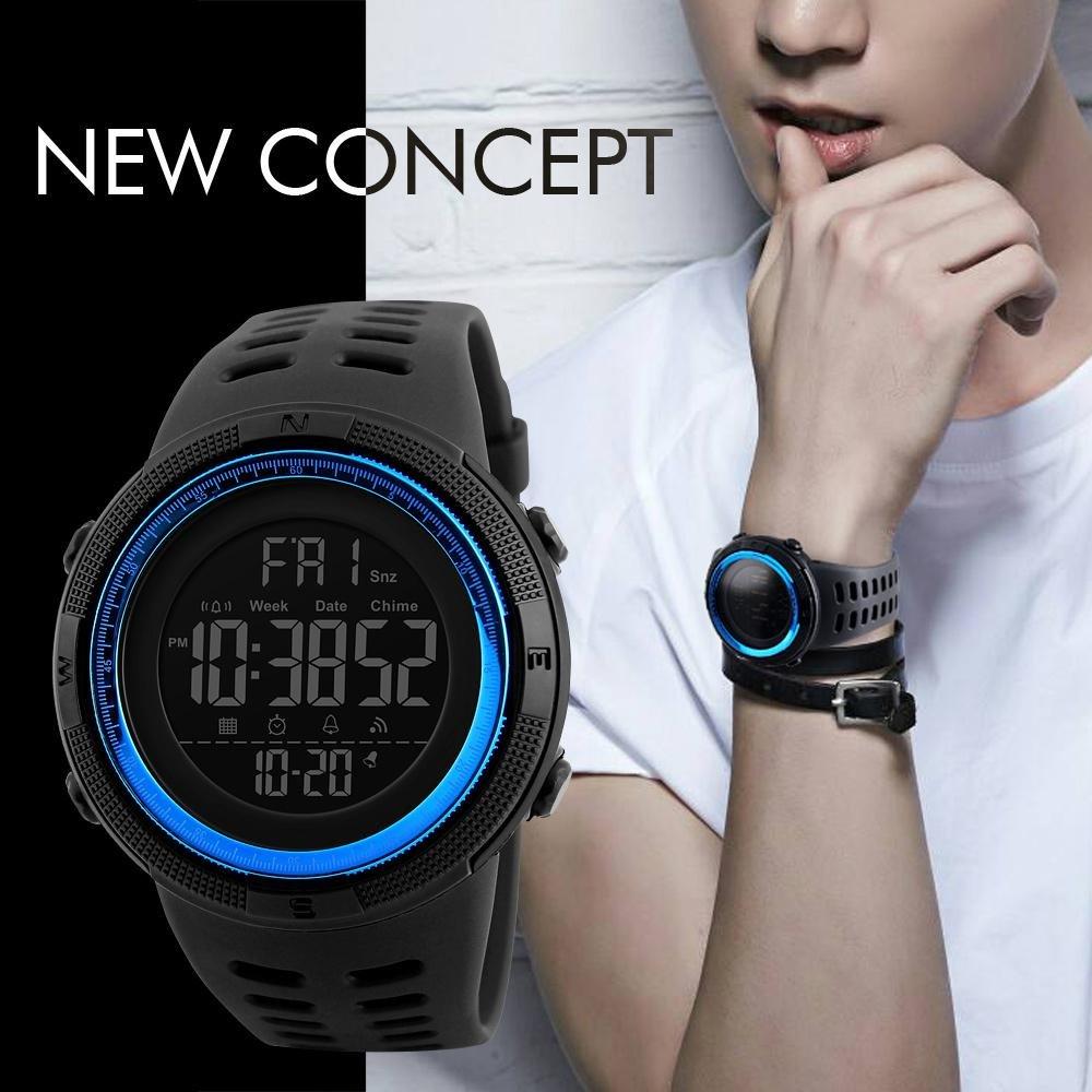 Merek Watch 1250 Pria Watch Pedometer Kalori Jam Tahan Air Digital Jam Tangan Kolam Olahraga Watches Relogio Masculino Bounabay Diskon