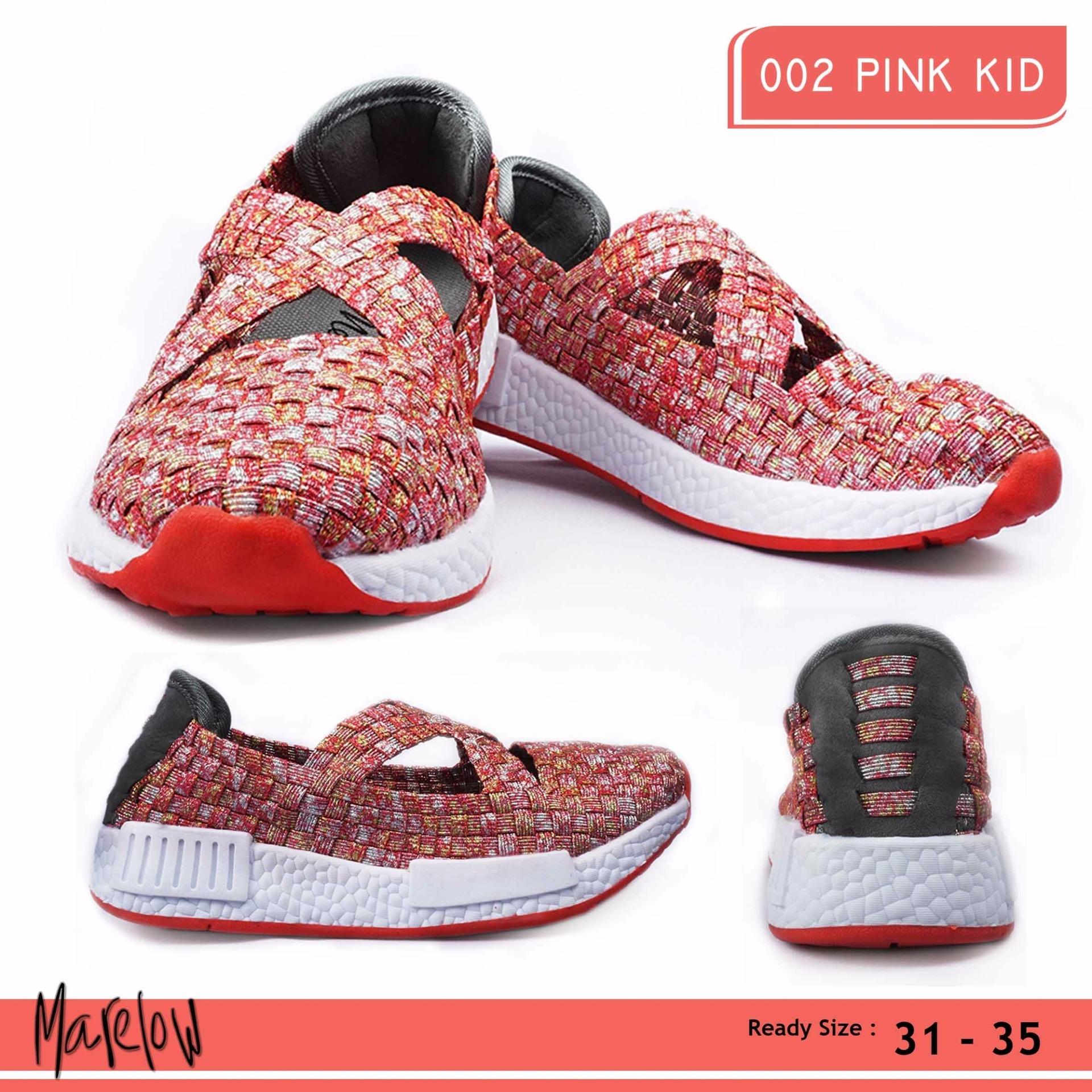 MERLIN, Sepatu Anak Casual Slip On Import - 002 PINK KIDS