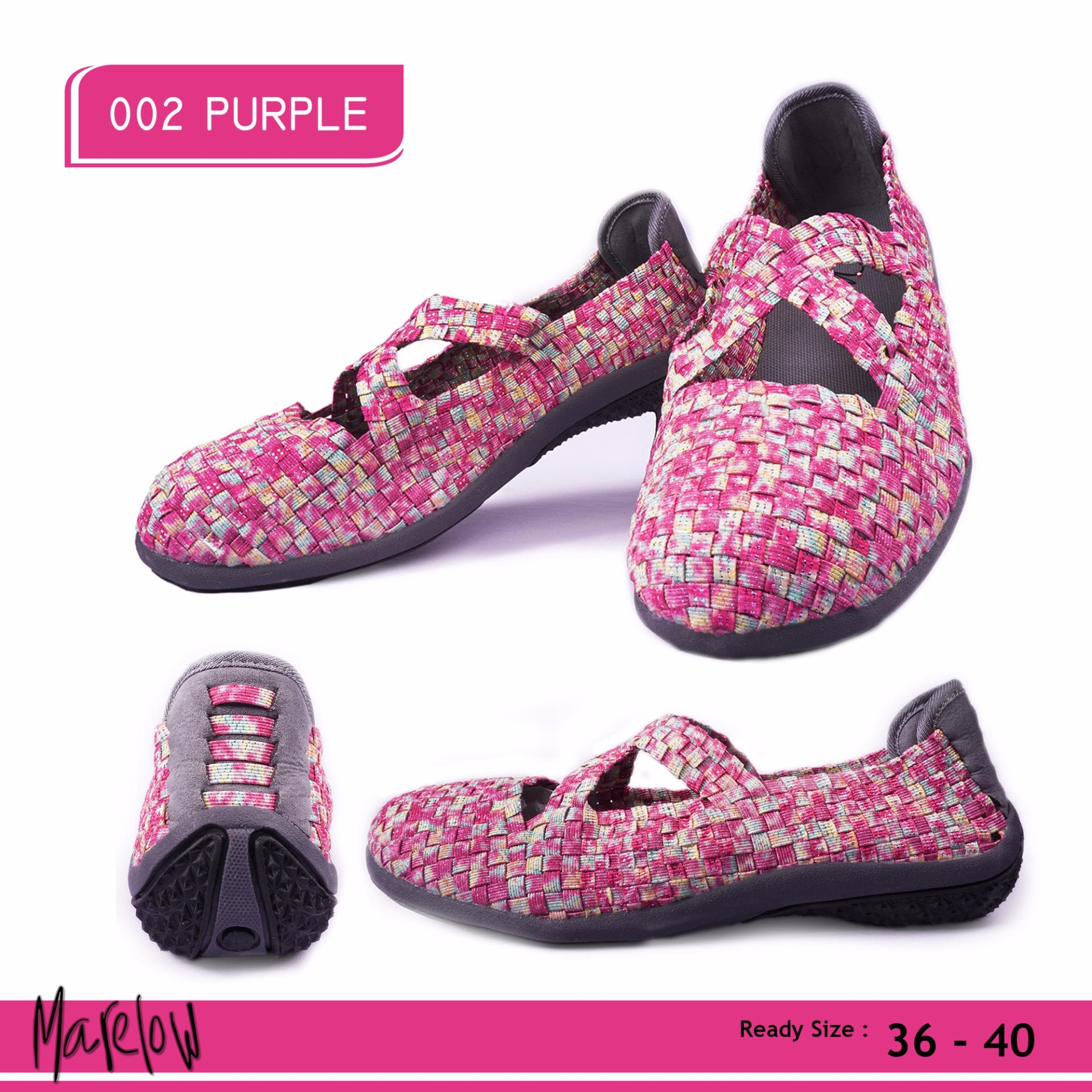 Harga Merlin Sepatu Casual Slip On Import 002 Purple Merlin Ori