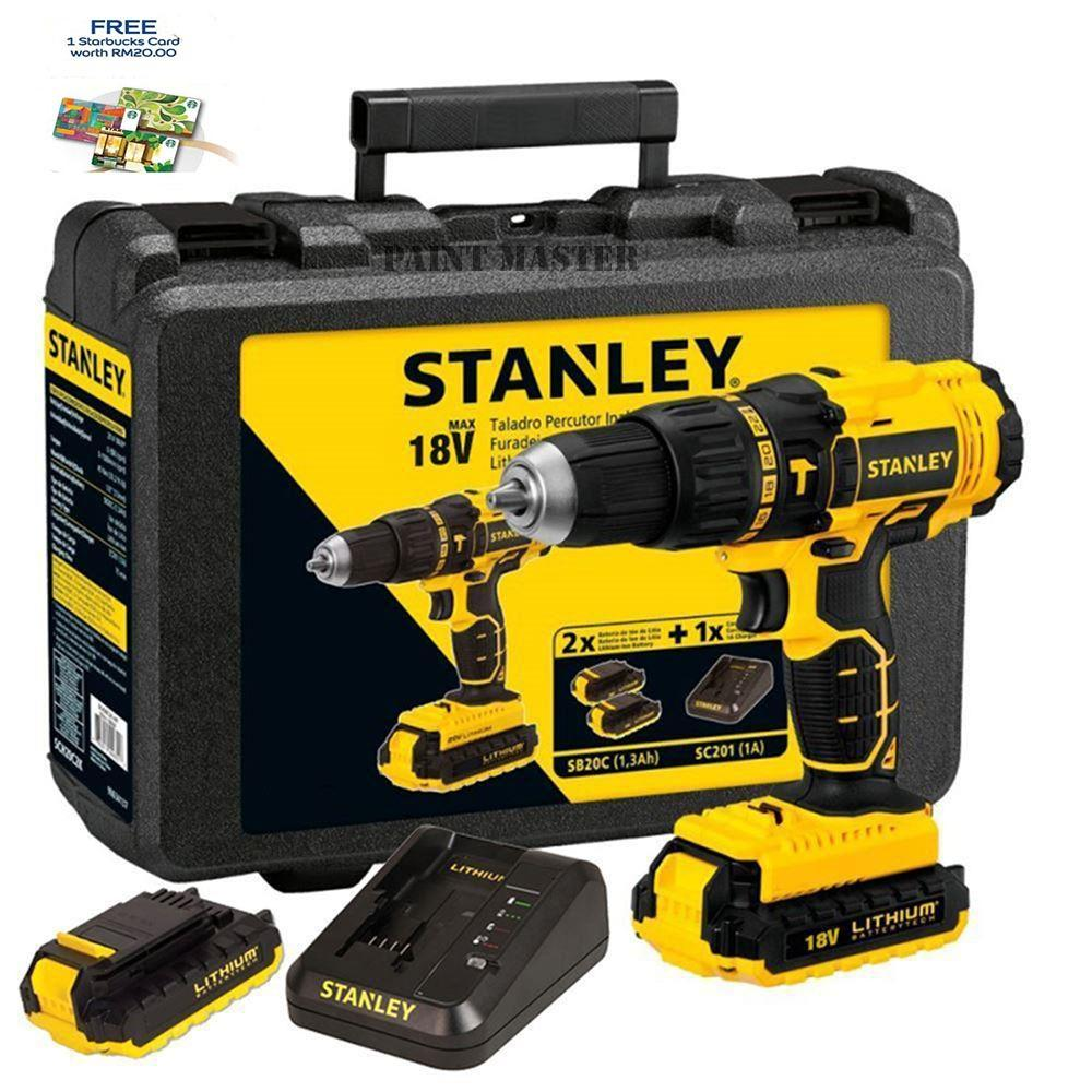 Beli Mesin Bor Baterai Cordless Hammer Drill Sch20C2K B1 Stanley Sch 20 C2K Stanley