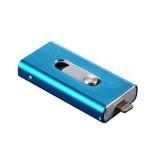 Spek Metal 64 Gb I Flash Drive Lightning Otg Usb Flash Drive Untuk Iphone 5 5 S 5C 6 6 Plus Ipad Macbook Biru Tiongkok