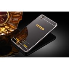 Bumper Logam dan Cermin Pc Belakang Sampul Case untuk Lenovo A6000-Intl