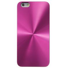 Pola Logam Berat CD Case Belakang Tipis untuk IPhone 6 Plus 5.5 (Naik Merah)-Internasional