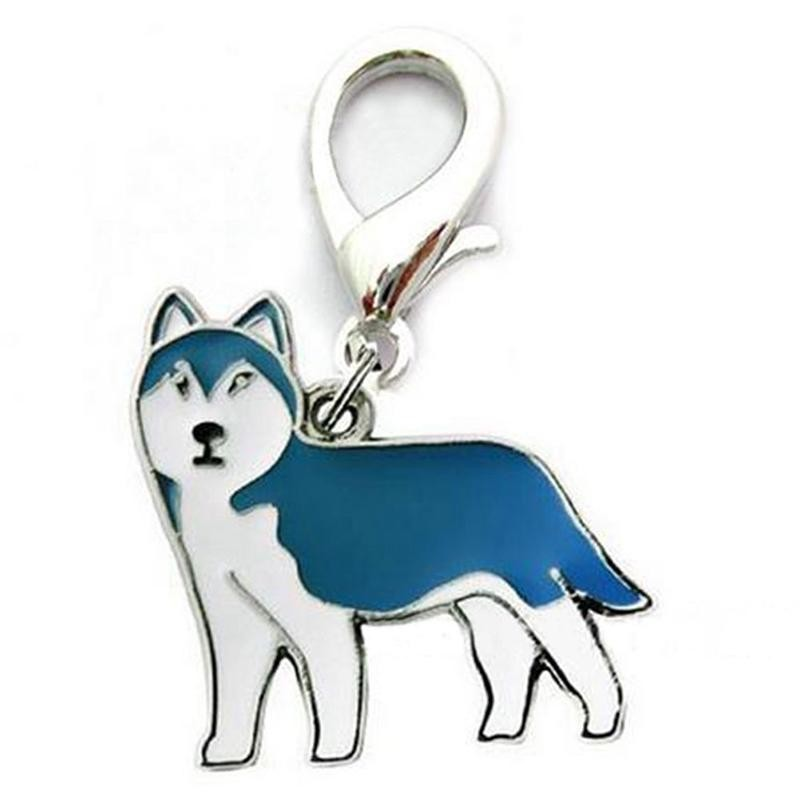 Logam Gantungan Kunci Anjing Lucu Anak Anjing Liontin Gantungan Kunci Gantungan Kunci Tas Wanita Pesona Hadiah Warna: Husky Spesifikasi: 2.5 Cm