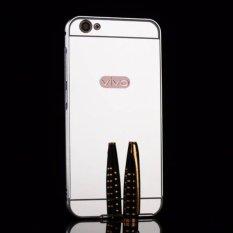 Bingkai Logam Cermin Belakang Sampul Case untuk VIVO V5/VIVO Y67 (Emas)-