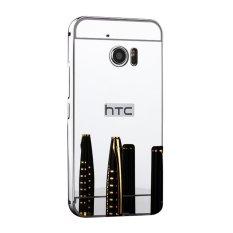 Taoyi Cermin Logam Border Back Case Cover untuk H TC 10 EVO (Bolt) (perak)-Intl