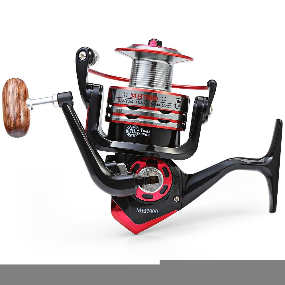 Harga Mh 7000 Metal Spool Spinning Fishing Reel Folding Arm 11 Ball Bearing 5 2 1 7000 Intl Yg Bagus