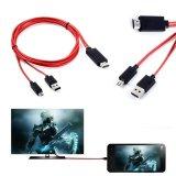 Beli Barang Mhl Micro Usb Untuk 1080 P Hdmi Av Hdtv Tv Kabel Adaptor For Htc One Max S Mini Merah Online