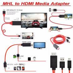 MHL micro USB untuk HDMI 1080P HDTV kabel adaptor untuk Samsung Galaxy S2 II i9100, Samsung Galaxy Note GT-N7000 i9220,HTC EVO 4G, HTC EVO 3D, HTC Sensation 4G G14,HTC Flyer