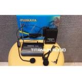 Jual Mic Wireless Headset Clip On Jepit Fujikaya Fk 3399 Bisa Hitam Online Jawa Timur