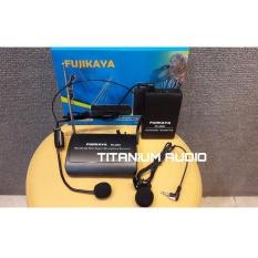 Toko Mic Wireless Headset Clip On Jepit Fujikaya Fk 3399 Bisa Hitam Di Jawa Timur