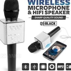 MIC Q9 WIRELESS BLUETOOTH SMULE KARAOKE SPEAKER TERBARU Q9 smule mic