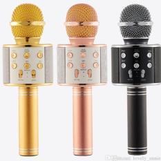 MIC Smule Karaoke Portable WS-858 Bluetooth Wireless Microphone Speaker USB
