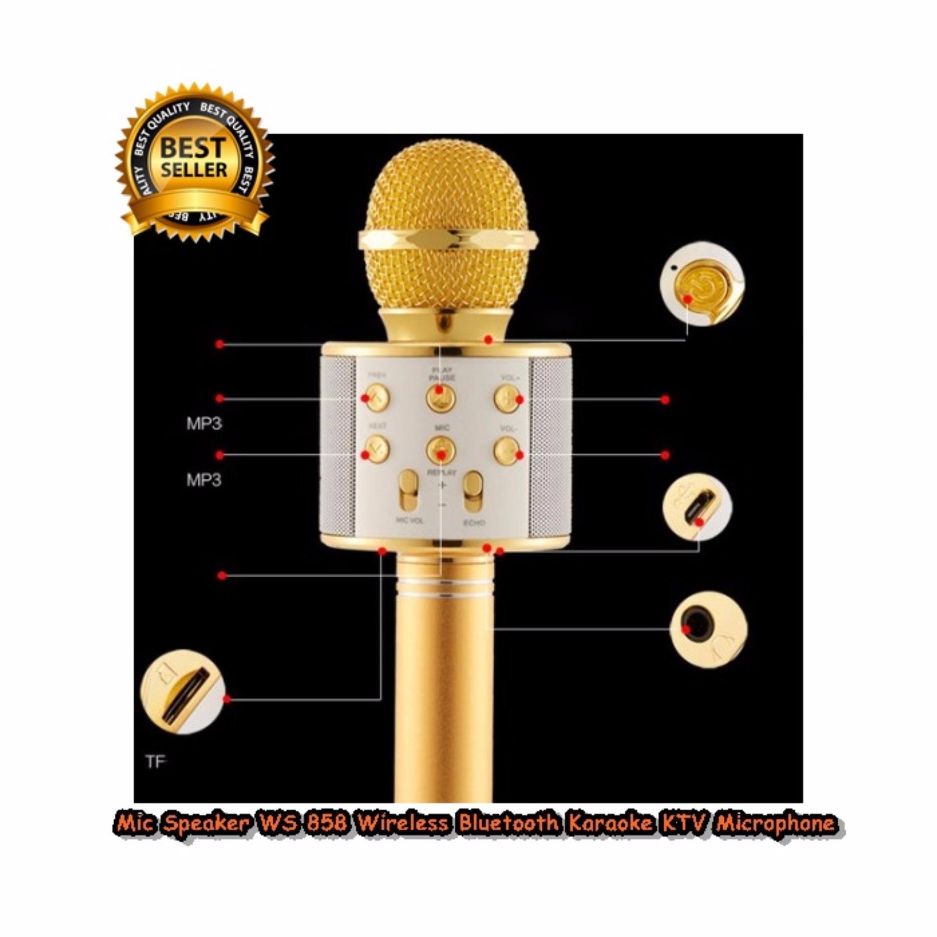 Jual Mic Speaker Ws Murah Garansi Dan Berkualitas Id Store Bluetooth Karaoke Smule Wster 858 Original Wireless Portable Ws858 Atau Speakeridr315000 Rp 321000