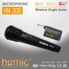 Harga Termurah Mic Wireless Homic 308 Single Mic