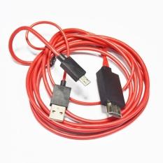 Kabel Konventer Adaptor Micro USB untuk HDMI AV HD TV Kabel untuk Pinsel-Intl