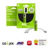 Microbatt Baterai Rechargeable Aa Micro Usb 1000Mah 2Pcs Green Murah