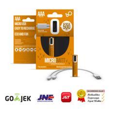 Jual Microbatt Baterai Rechargeable Aaa Micro Usb 450Mah 2Pcs Green Original