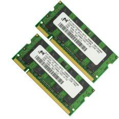 Micron 4 GB 2X2 GB DDR2 667 667 MHz 2Rx8 PC2-5300s CL5 Non ECC SO-DIMM Laptop RAM Memori -Intl