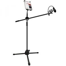 Mikrofon dan Tablet Tripod Boom Stand Kit, LOVIN PRODUK 2-In-1 Adjustable Telescopic Tablet Holder untuk Apple IPad Air Mini Samsung Galaxy Note Pro Microsoft Permukaan Google Nexus. (1 Pack)-Intl