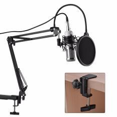 Jual Microphone Bm800 Audio Condenser Microphone Studio Sound Recording Shock Mount White