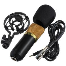 Kualitas Microphone Mic Bm700 With Shock Proof Mount Condenser Studio Gold Oem