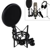 Spesifikasi Mikrofon Mic Profesional Shock Mount Dengan Pop Shield Filter Layar Intl Merk Rbo